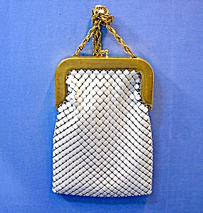 Whiting & Davis Gold White Alumesh Bag.. (Image1)