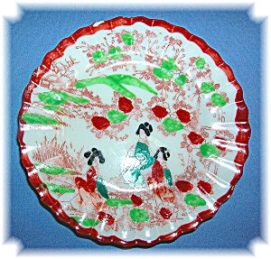 Geisha Girl porselain saucer, 4 in.  (Image1)