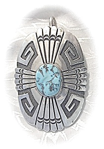 Native American Tommy Singer Sterling Silver Turquoise