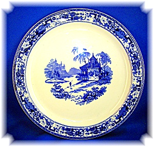 Syracuse Restaurant  China Dinner Plate Blue Oriental P (Image1)