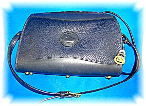 Bag Navy Blue Leather Dooney Bourke Usa