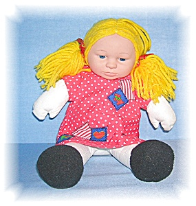 14 Inch Gold Wool Hair ANNE GEDDES DOLL (Image1)