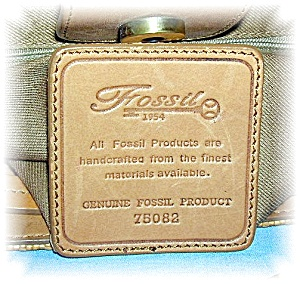 Vintage Tan Woven Leather FOSSIL Bag (Image1)