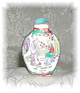 HAND PAINTED SNUFF BOTTLE (Image1)