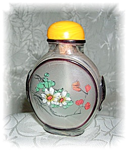 Snuff Bottle Glass Reverse Painting (Image1)