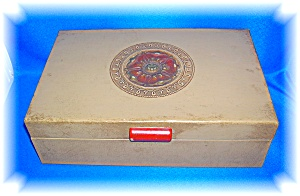 VINTAGE JEWELRY BOX WITH MIRROR (Image1)