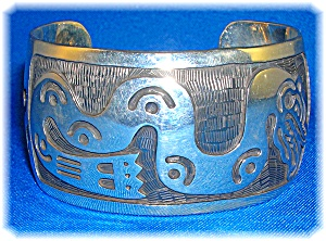 Bracelet 950 Sterling Silver Signed SUZI Mexico   (Image1)