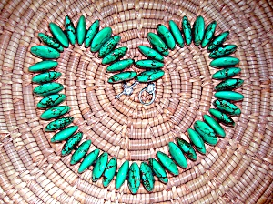 Turquoise Blue Green 20 Inch Necklace Silvtoggle Clasp