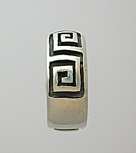 Sterling Silver Greek Key Band Ring...