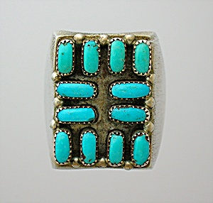 Sterling Silver and Turquoise Ring American Indian (Image1)