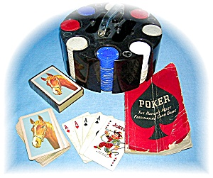 VINTAGE POKER CHIP SET, BOOK 1941 (Image1)