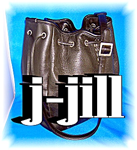 J. JILL HAND BAG PURSE BLACK LEATHER (Image1)