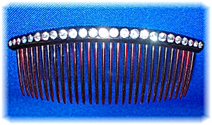 Vintage Crystal Jewelled Rhinestone Hair Comb