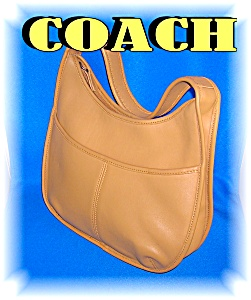 Coach Leather Light Tan Purse Bag