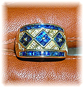 Ring 14K Yellow Gold 1/2ct Sapphire  (Image1)