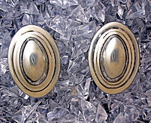 Sterling Silver Taxco Mexico NESTOR Clip Earrings (Image1)
