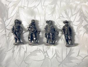 4 Pewter Miniatures Roundheads & Cavaliers (Image1)