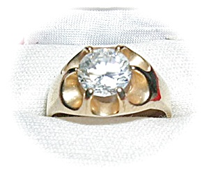 Ring  Antique 10K Gold And 1 1/2ct CZ (Image1)