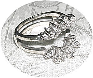 Ring 14K White Gold & Diamond  Guard  (Image1)