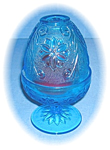 Blue Depression Glass Votive Candle Holder (Image1)