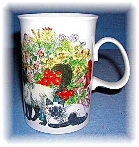 DUNOON TEA COFFE MUG FINE BONE CHINA Sophisticats (Image1)