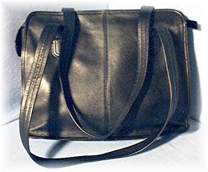 Black Leather TIGNANELLO Bag/purse (Image1)