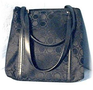 Bag Black Salvatore Ferragamo Fabric & Leather
