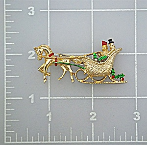 Brooch Pin GERRYS Christmas Sleigh (Image1)