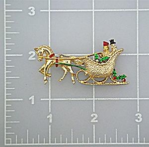 Brooch Pin GERRYS Christmas Sleigh (Image1)