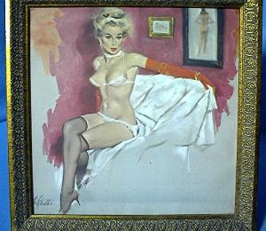 Vintage Framed 'Pin Up' Print (Image1)
