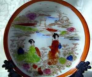 Small Oriental Hand Painted Plate