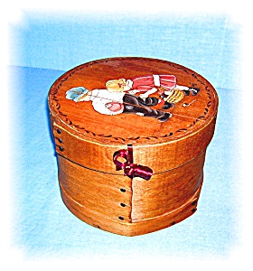 Vintage Handpainted Wooden Box Lauri 1983 (Image1)