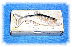 Bone Box Handcarved Fish On Top (Image1)