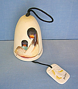 De Grazia Ceramic Wind Bell Navajo Mother Mexico