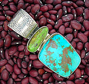 Turquoise Sterling Silver RICHARD LINDSAY Pendant (Image1)