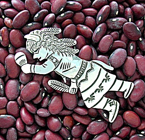 Sterling Silver Signed Bicenti Buffalo Dancer Pin