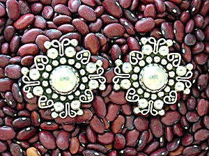 Sterling Silver Mexico Clip Earrings TH-13 ..JHR (Image1)