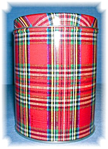 TARTAN PLAID CANNISTER TIN (Image1)