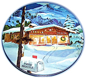SWISS KRINGLE CANISTER TIN, The Swiss Colony (Image1)