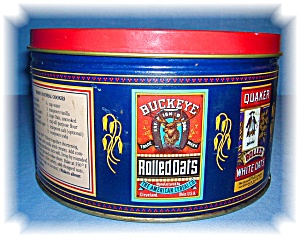QUAKER OATS CANISTER TIN 1983 (Image1)