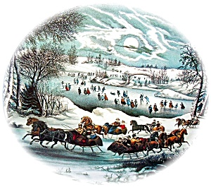 CURRIER & IVES CANISTER TIN (Image1)