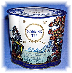 MORNING TEA CANISTER TIN FROM ENGLAND (Image1)