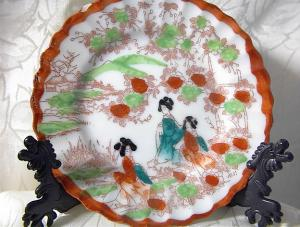Small Oriental Handpainted Plate