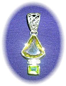 Sterling Silver Lemon Citrine & Peridot Penda (Image1)