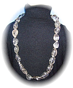 Stunning 29 Inch Rock Crystal Necklace