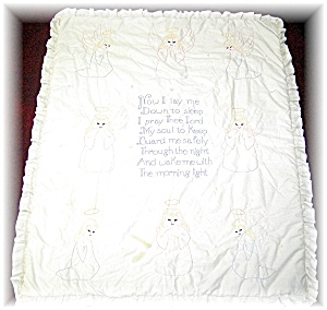 Beautiful Hand Embroidered Baby Quilt (Image1)