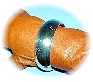 Mexican Silver Stars Bangle Bracelet (Image1)