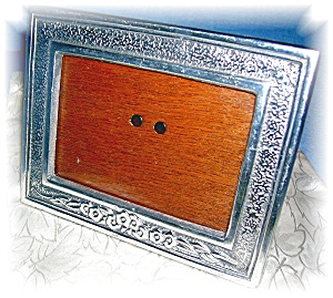 Photo Frame Silvertone Made In Mexico