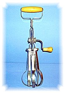 VINTAGE, BLUE WHIRL, HAND MIXER, EGG BEATER (Image1)