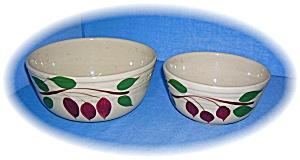 Cream Green Brown Leaves WATT Bowls (Image1)